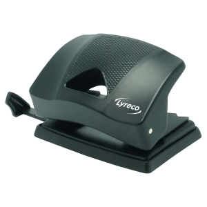 Lyreco 2-hole punch black 20 sheets