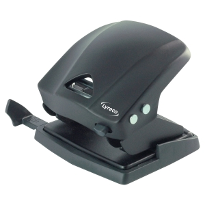 LYRECO 2 HOLE PUNCH BLACK - 30 SHEET CAPACITY