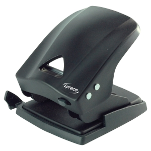 Lyreco heavy 2-hole punch black 40 sheets