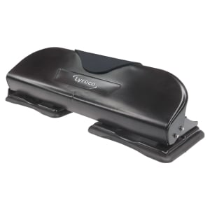 LYRECO 4 HOLE PUNCH BLACK - 10 SHEET CAPACITY
