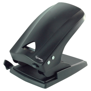 LYRECO HEAVY DUTY 2 HOLE PUNCH BLACK - 70 SHEET CAPACITY