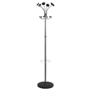 Alba Chromy coat stand chromed 6 coat pegs