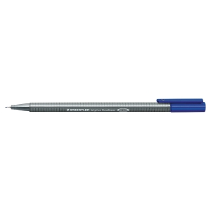 STAEDTLER 334-3 TRIPLUS FINELINER 0.3 BLUE BOX OF 10
