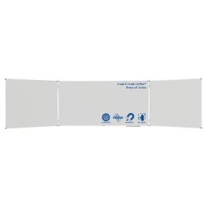 Legamaster 100354 drieluik whiteboard 90x240cm