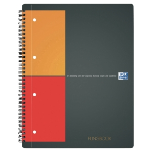 RELIURE INTEGRALE FILINGBOOK OXFORD A4+ 200 PAGES PERFOREES QUADRILLE 5 X 5