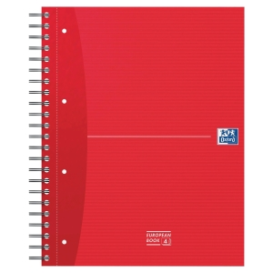 Caderno espiral 120 folhas A4 microperfurado,quadricula 5mm,90g/m2 OXFORD Office