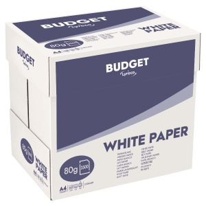 Carton 2500 feuilles repro laser Lyreco budget 80g A4 blanc