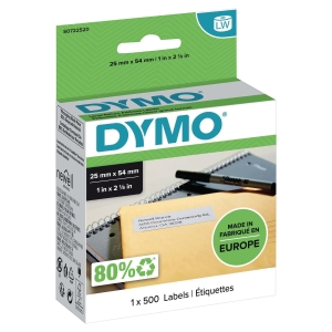 RETURADRESS ETIKETT DYMO LW 25X54 MM VIT 500 ST/PACK