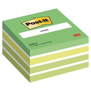 3M Post-it® 2028 Öntapadó jegyzetkocka 76x76mm, zöld, 450 lap