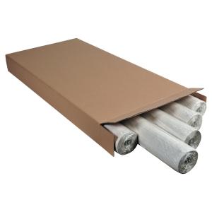 Lyreco flipover papier 60 g 65 x 98 cm geruit (25 mm) - pak van 5 rollen