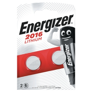 Pack 2 piles boutons Energizer lithium 3v cr2016