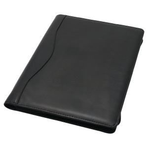 MONOLITH LEATHER LOOK CONFERENCE FOLDER BLACK