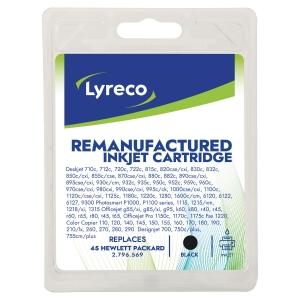 Tintenpatrone Lyreco komp. mit HP 51645AE - 4, Inhalt: 45ml, schwarz