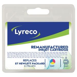 Cartucho de tinta LYRECO tricolor 57 compatible con HP DeskJet 450/5500