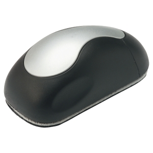 Magnetic Mouse Shaped Whiteboard Eraser - Black/Silver