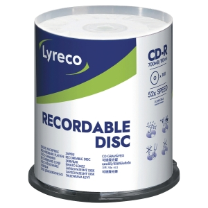 Pack de 100 CD-R Lyreco - 700 Mb