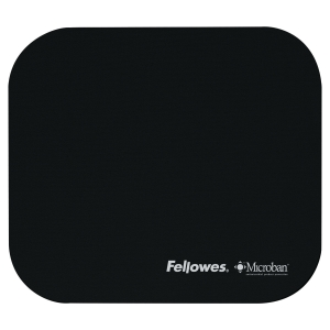 Fellowes 5933901 Microban Mouse Mat Black