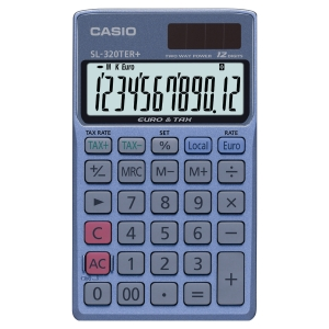 CASIO SL-320TER+ POCKET CALCULATOR 12 DIGIT