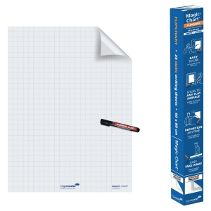 Legamaster 159000 Magic Chart whiteboard on roll - squared
