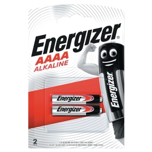 Energizer E96/AAAA alkaline batteries - pack of 2