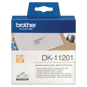 Rolo de 400 etiquetas BROTHER de 29x90mm brancas para impressoras BROTHER QL
