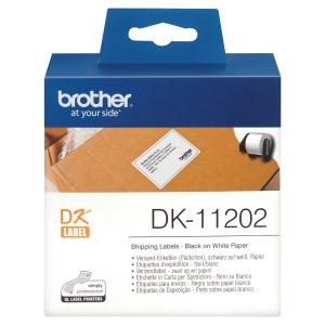 ETIKETTRULL DK11202 FRAKTETIKETT TIL BROTHER QL 62X100 MM RL À ESKE À 300