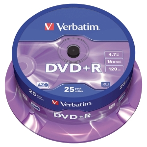 DVD+R 4.7 GB 120 MIN VERBATIM - CONF.SPINDLE DA 25