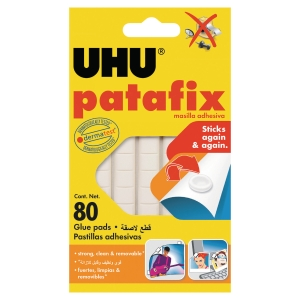 UHU PATAFIX ADHESIVE PADS WHITE - PACK OF 80