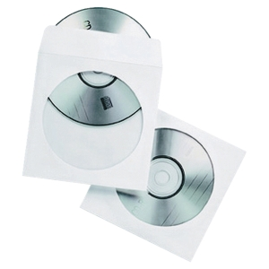 Storage cases made of paper with window for CD / DVD - pack of 50