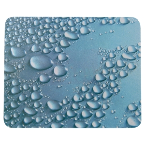 MOUSE PAD FUN SLIM DROPLETS DESIGN