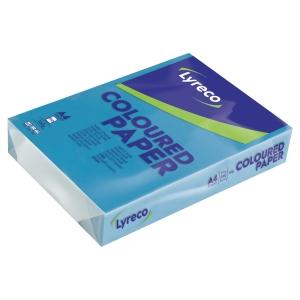 Ramette 250 feuilles papier Lyreco A4 160g bleu intense