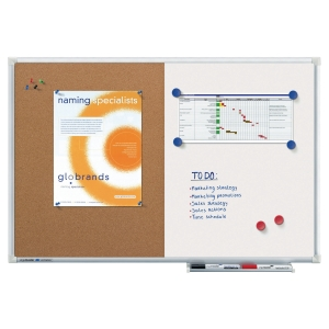 Legamaster combination board cork-whiteboard 60x90 cm