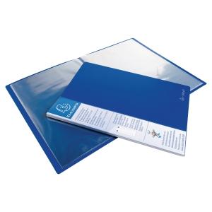 Pasta rígida de 40 bolsas fixas EXACOMPTA cor azulmarinho