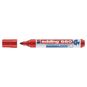 Marcador para quadro branco EDDING 660 cor vermelha