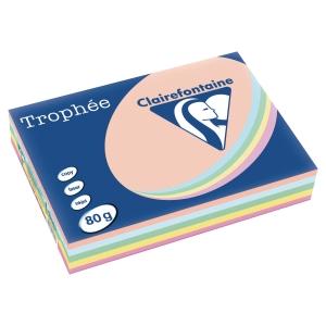 Trophée farebný papier Clairefontaine, A4 80 g/m² - pastelový mix