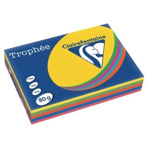 Trophee Farbpapier, A4, 80 g/m², Leuchtmix, 500 Blatt