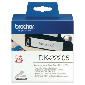 Computeretikett Brother DK22205, 62mm x 30,48m, endlos