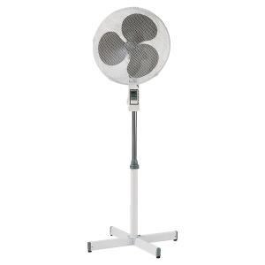 Ventilateur sur pied diametre 40.5 cm blanc