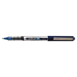 ROLLER UNI-BALL EYE POINTE CONIQUE METAL 0,5 MM ENCRE LIQUIDE INFALSIFIABLE BLEU