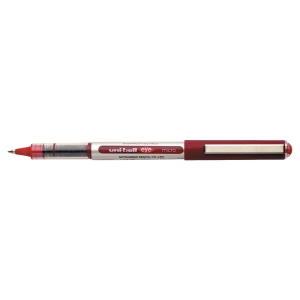 ROLLER UNI-BALL EYE POINTE CONIQUE METAL 0,5MM ENCRE LIQUIDE INFALSIFIABLE ROUGE