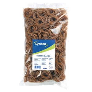 LYRECO RUBBER BANDS 2MM X 40MM - 500G BOX