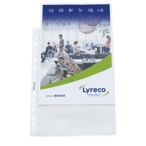 Lyreco standard punched pockets 8/100e PP anti-glare - pack of 100