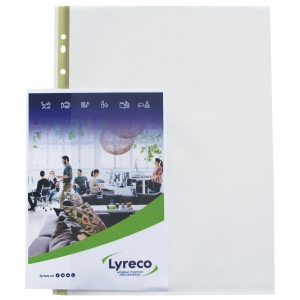 Lyreco A4 Side Open Punched Pockets 80 Microns - Pack Of 25