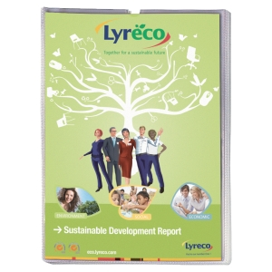 Lyreco Budget card holders U-shape PP A4 (21x29,7 cm) transparent - pack of 25