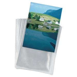 Lyreco Budget U-hoezen PP A6 (10,5x14,8cm) transparant - pak van 25