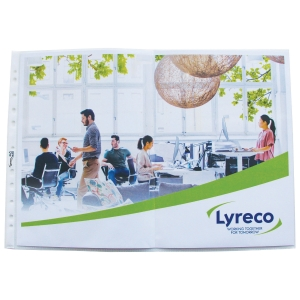 LYRECO A3 LANDSCAPE FOLDED PUNCHED POCKETS 80 MICRONS - PACK OF 10