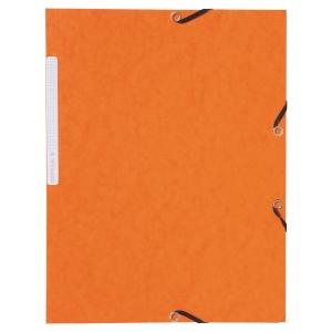 Lyreco Dreiflügelmappe Eckspanner mit Gummi, Pressspan A4 orange 350g