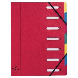 Sorteringsmapp Exacompta, 7 fack, röd