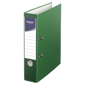 LYRECO BUDGET GREEN A4 LEVER ARCH FILE 75MM