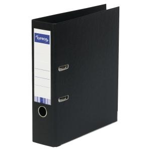 Dossier de alavanca com capa em plástico lyreco folio/45 preto